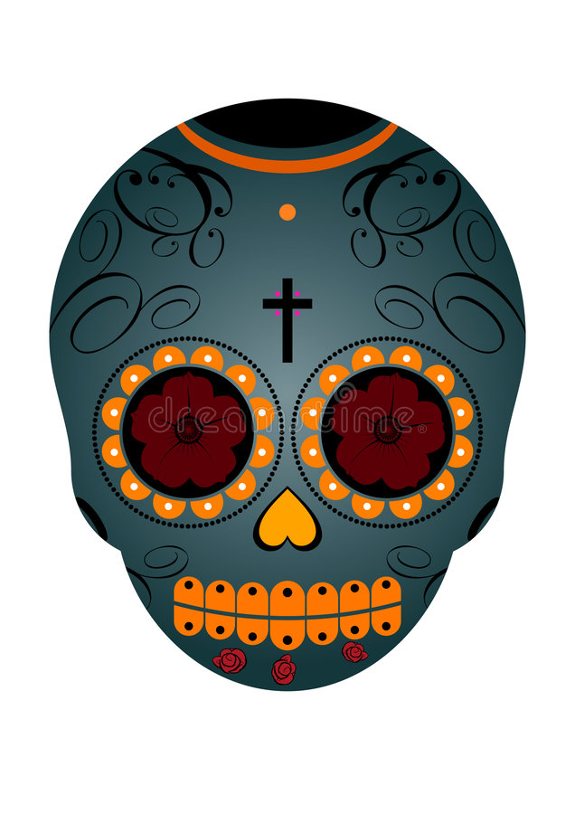 Mexican Day Of The Dead Skull Stock Photos