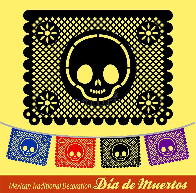 Mexican Day of the death vector traditional street decoration. Eps available vector illustration