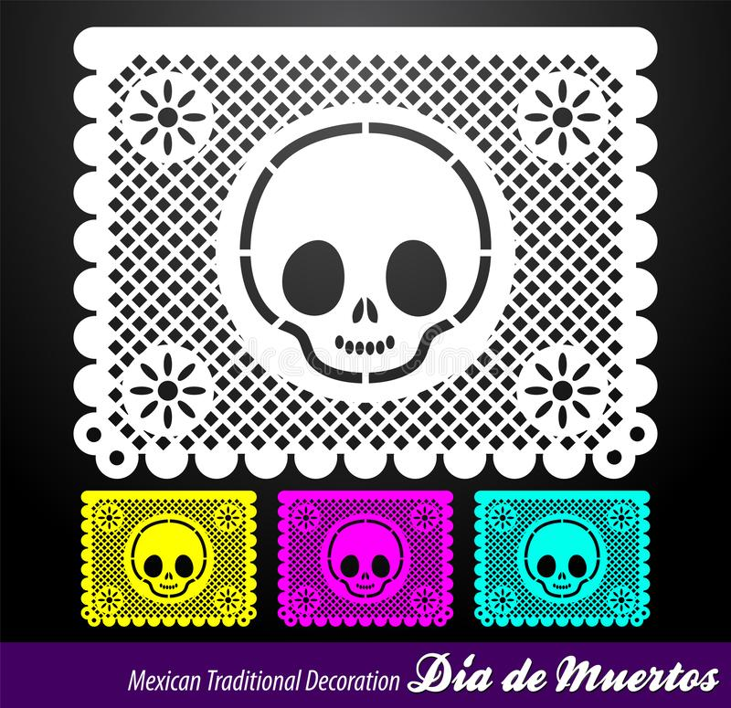 Mexican Day of the death vector traditional street decoration. Eps available royalty free illustration