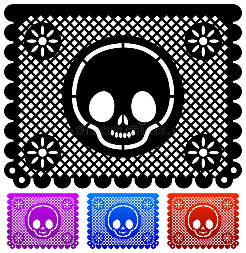 Free Mexican Day Of The Death Decoration - Vector Royalty Free Stock Photography - 22217377
