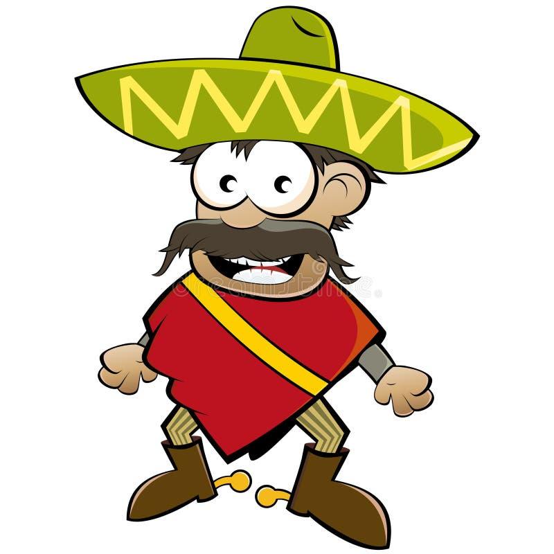 Mexican del fumetto illustrazione vettoriale