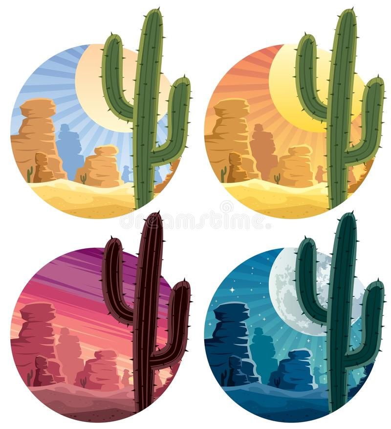 Download Mexican Desert stock vector. Illustration of dunes, silhouette - 23903851