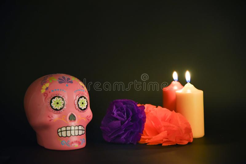 Mexican dinner, traditional halloween party stock images