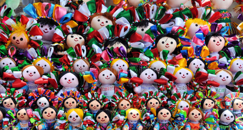 Download Mexican dolls stock photo. Image of color, handcrafted - 13399770