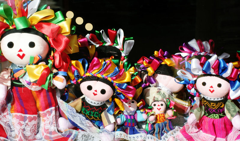 Download Mexican dolls stock image. Image of window, coloful, laces - 1714005