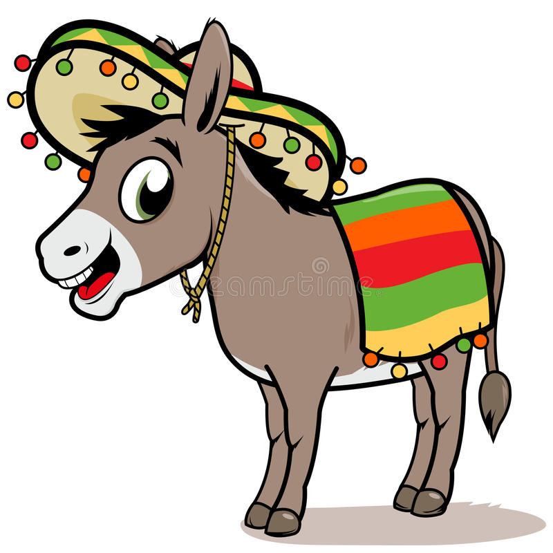 Mexican donkey stock illustration