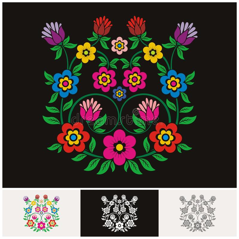 Mexican ethnic Floral vector with Lovely and adorable design. Unique floral design concept and suitable for wedding or party invitation, greeting card royalty free illustration