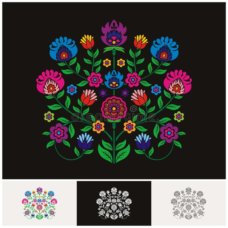 Mexican ethnic Floral vector with Lovely and adorable design. Unique floral design concept and suitable for wedding or party invitation, greeting card stock illustration