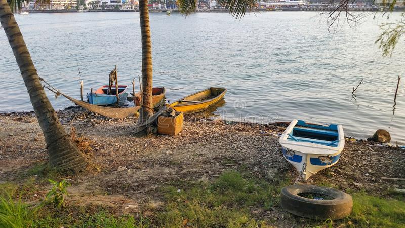 Mexican Fishing boats royalty free stock images
