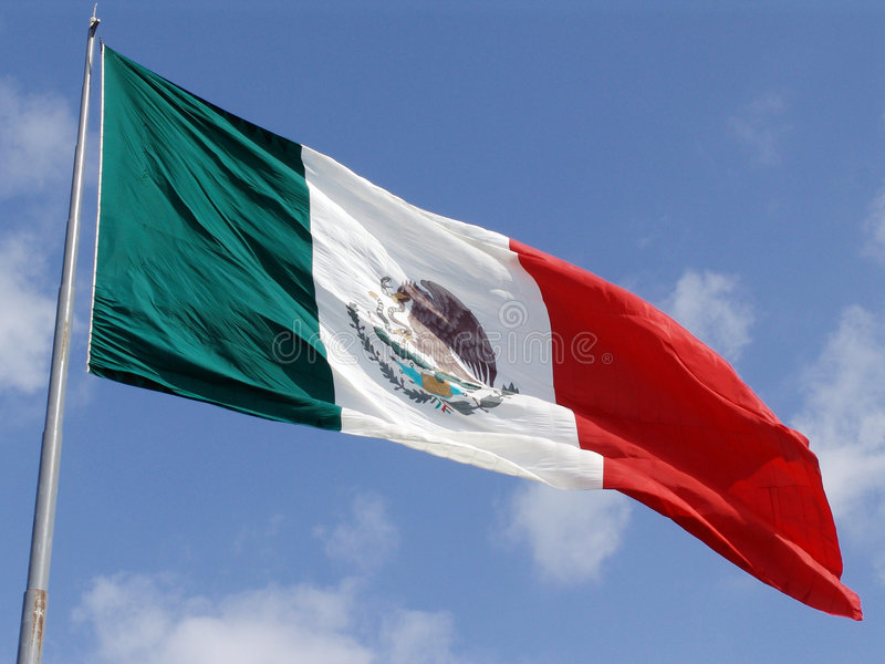 Download Mexican Flag stock image. Image of wind, cloud, patriot - 106353