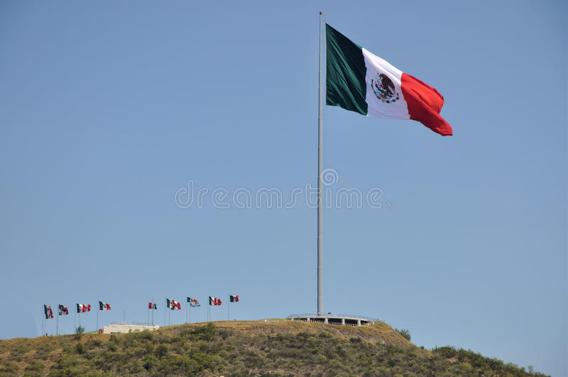 Download Mexican Flag stock photo. Image of monterrey, mexican - 21169914