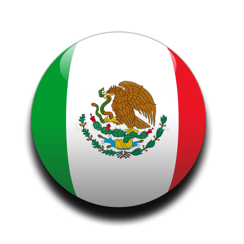 Mexican flag stock illustration