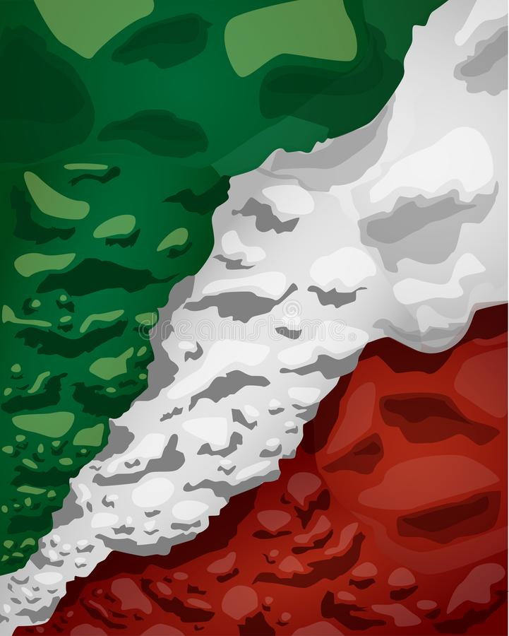 Mexican flag of clouds of smoke, vector illustration vector illustration