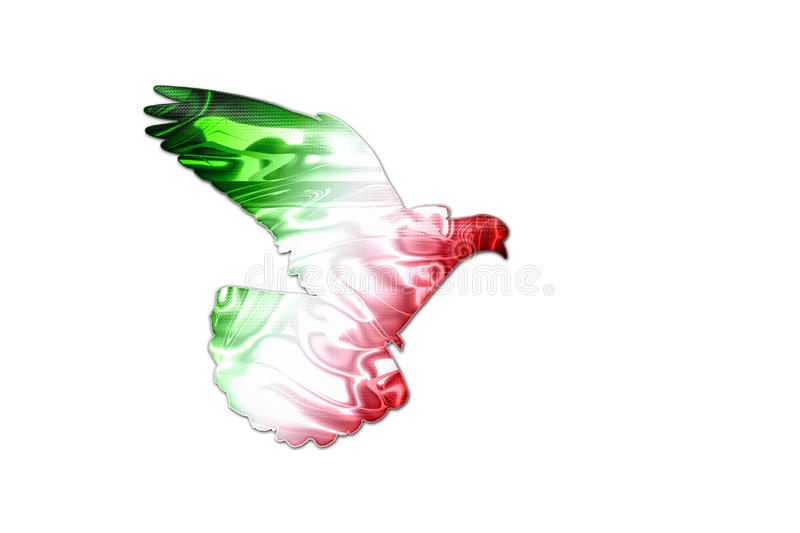 mexican flag colors on a silhouette of a dove stock image image of