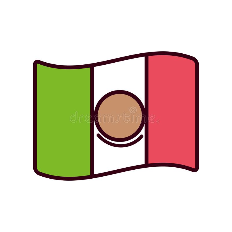 Isolated mexican flag vector design vector illustration