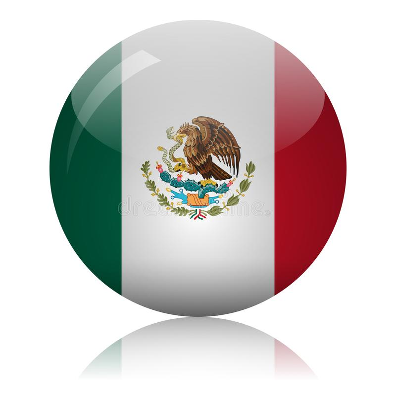 Mexican flag glass icon vector illustration vector illustration