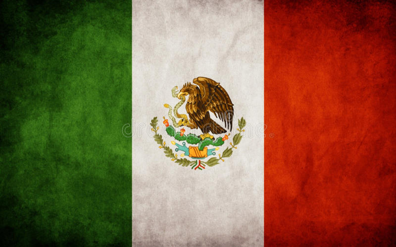 Mexican flag royalty free illustration