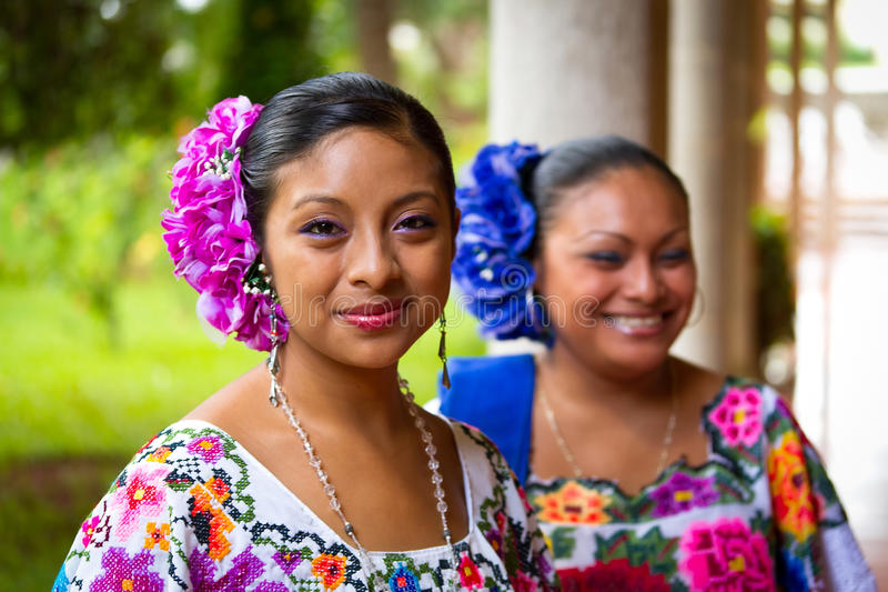 Mexican folk dancers stock photography