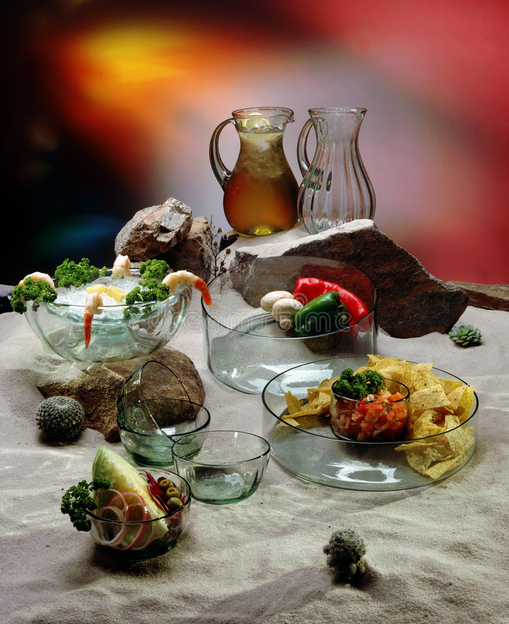 Download Mexican food stock image. Image of glasswear, appetizers - 64963