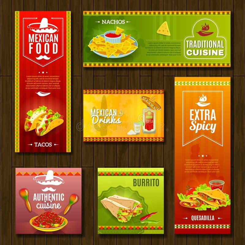 Download Mexican Food Banner Set stock vector. Illustration of saguaro - 57608121