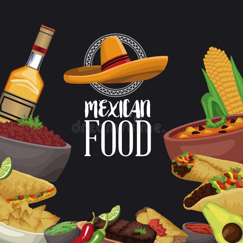 Mexican food brochure vector illustration
