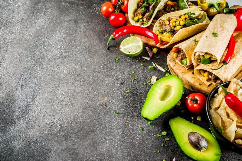 Mexican food concept. Cinco de Mayo food stock images
