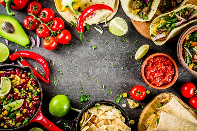 Mexican food concept. Cinco de Mayo food royalty free stock photography