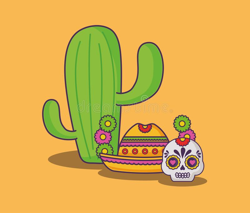 Mexican food design stock illustration
