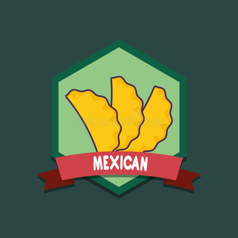 Mexican food design stock illustration