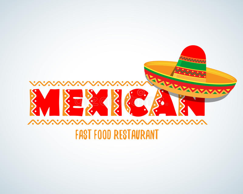 Mexican food logo. Mexican Fast food logotype template. Isolated Vector logo design template. Mexican food logo. Mexican Fast food logotype template. Isolated vector illustration