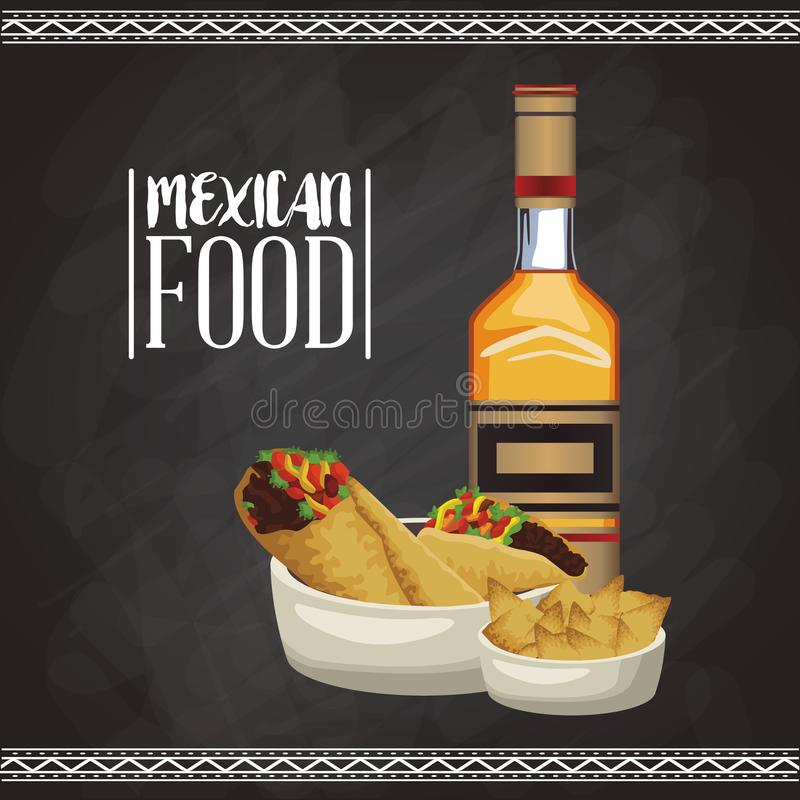 Mexican food menu card royalty free illustration