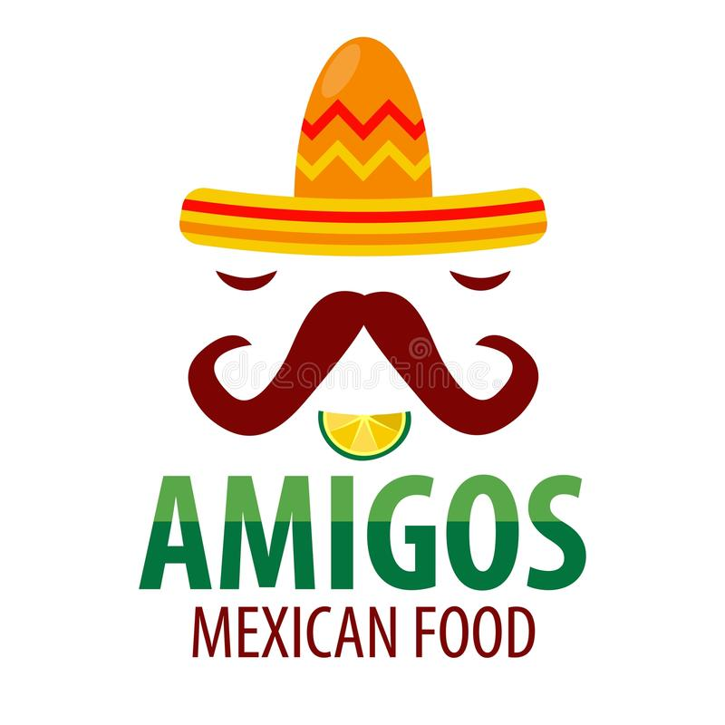 mexican food restaurant sombrero mustaches vector icon template rh dreamstime com mexican restaurant logo design mexican restaurant logo design