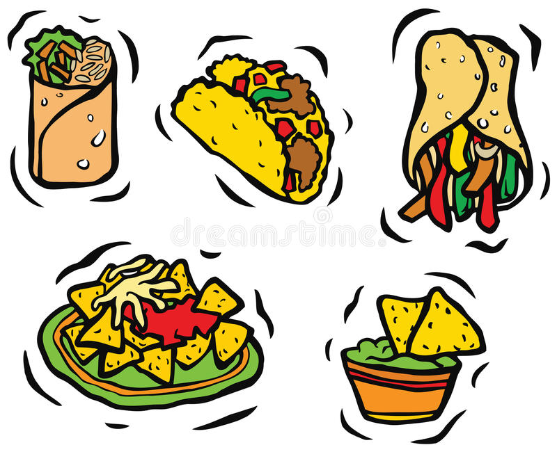 mexican food set stock illustration illustration of herb 38314390 rh dreamstime com mexican food clip art black and white mexican food clip art images