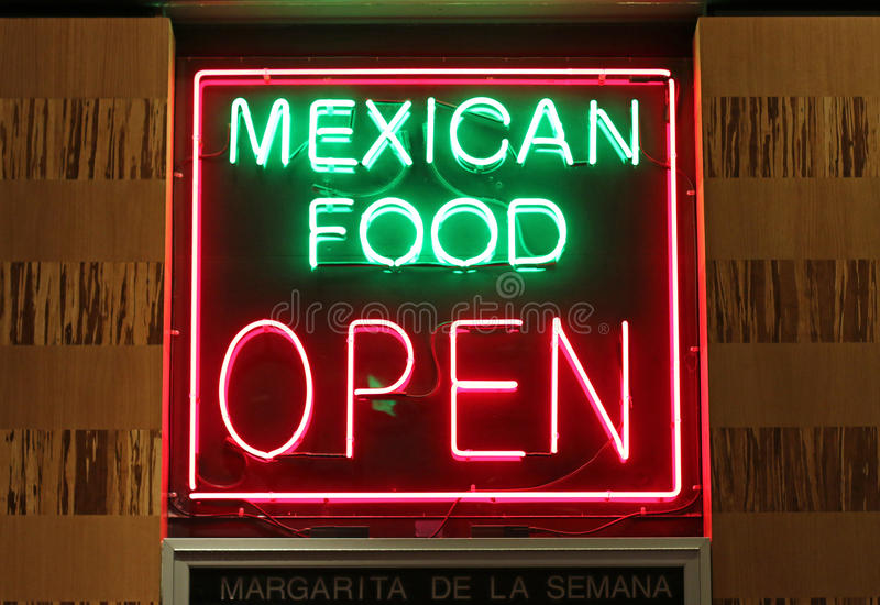 Mexican food sign royalty free stock image