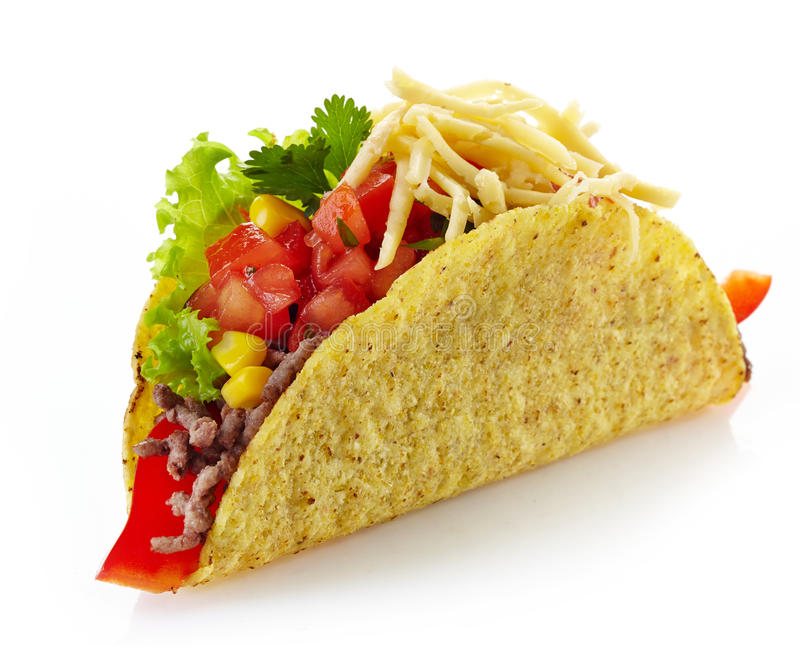White Cheese On Mexican Food