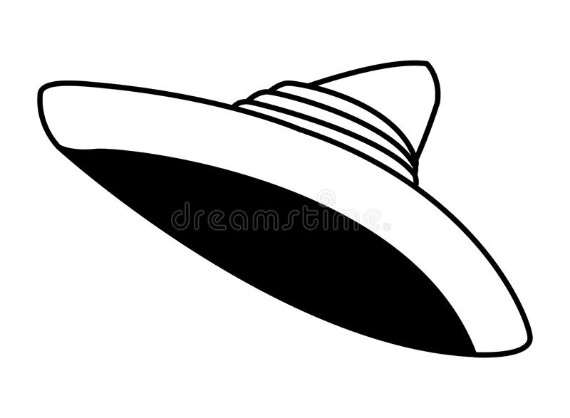 Mexican food and tradicional culture in black and white. Mexican food and tradicional culture with a mexican hat icon cartoon in black and white vector royalty free illustration