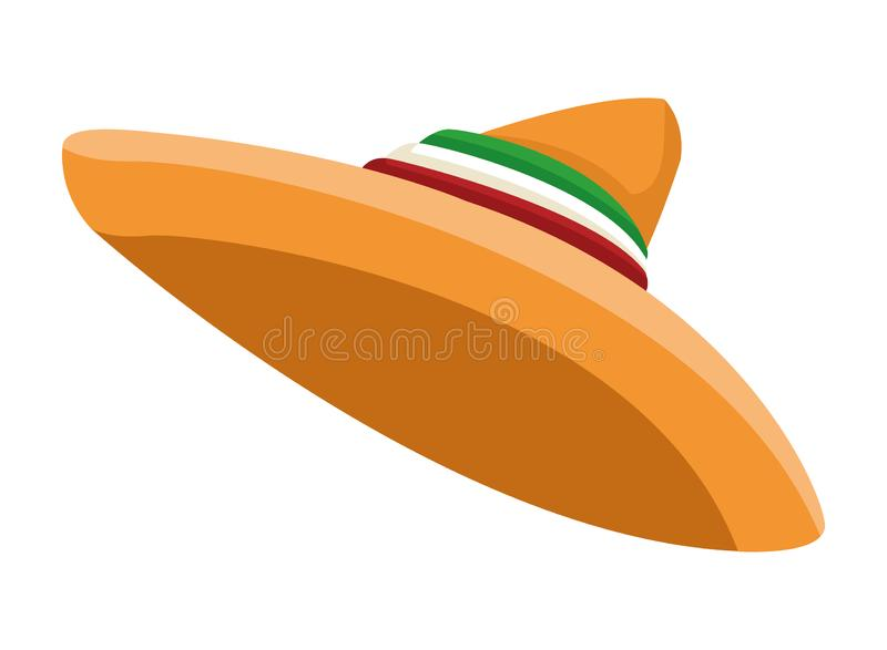 Mexican food and tradicional culture. With a mexican hat icon cartoon vector illustration graphic design stock illustration