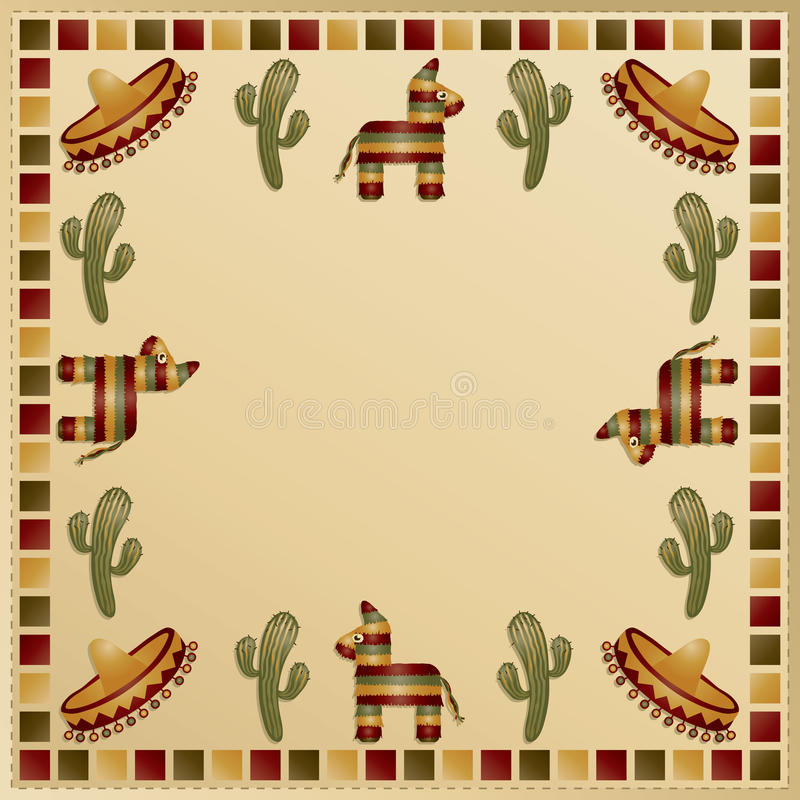 Mexican frame vector illustration