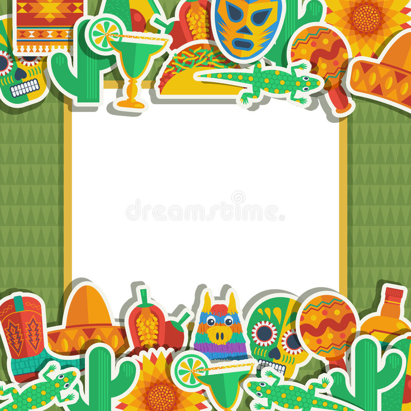 Mexican frame royalty free illustration