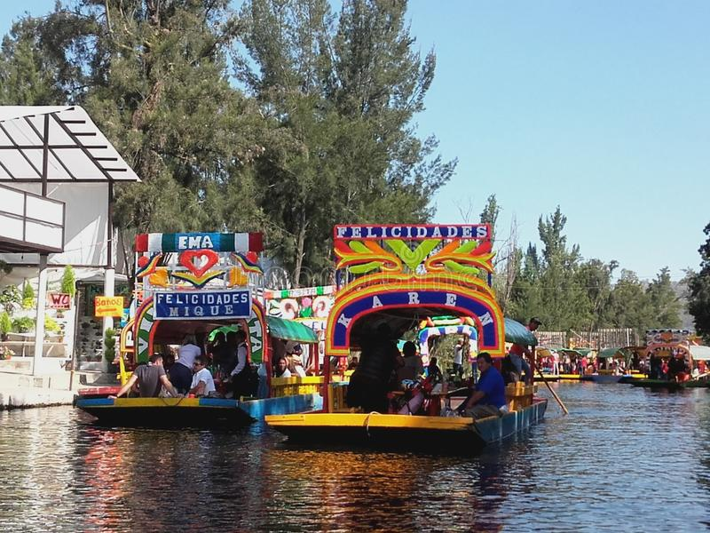 Mexican gondolas royalty free stock image