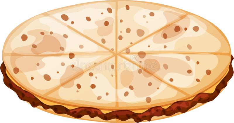 Mexican Ground Beef and Cheese Quesadilla stock illustration
