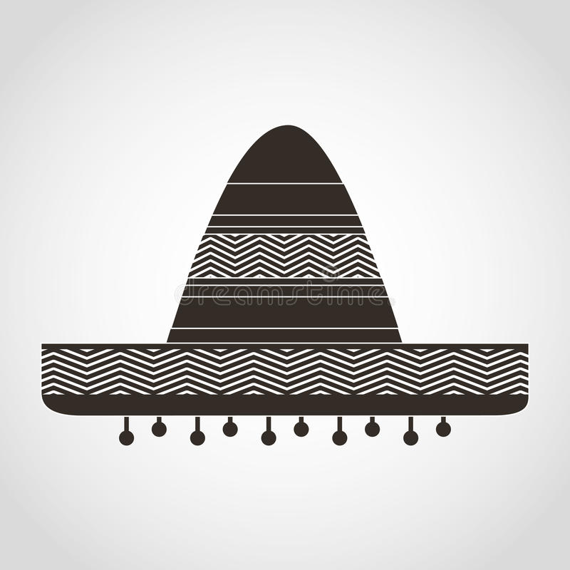 Mexican hat. Design, vector illustration eps10 graphic royalty free illustration
