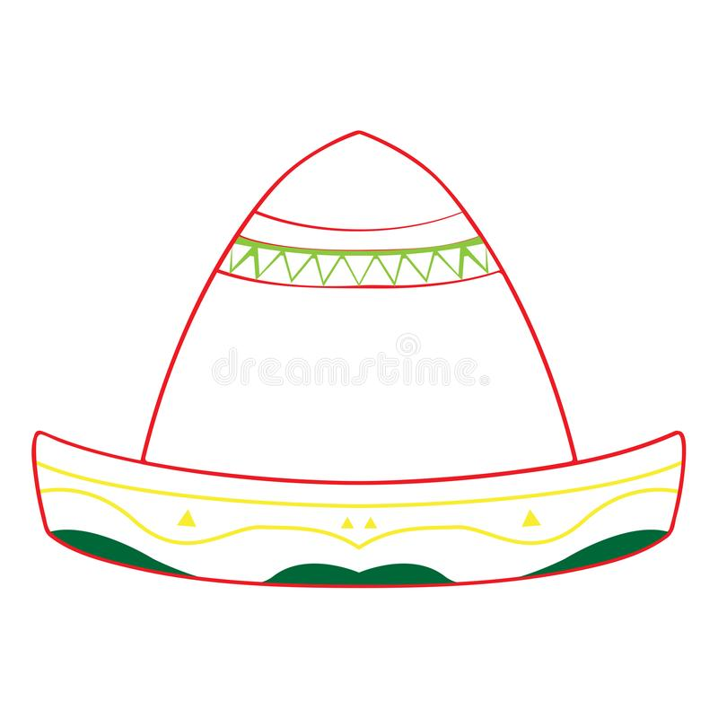 Mexican hat icon vector illustration