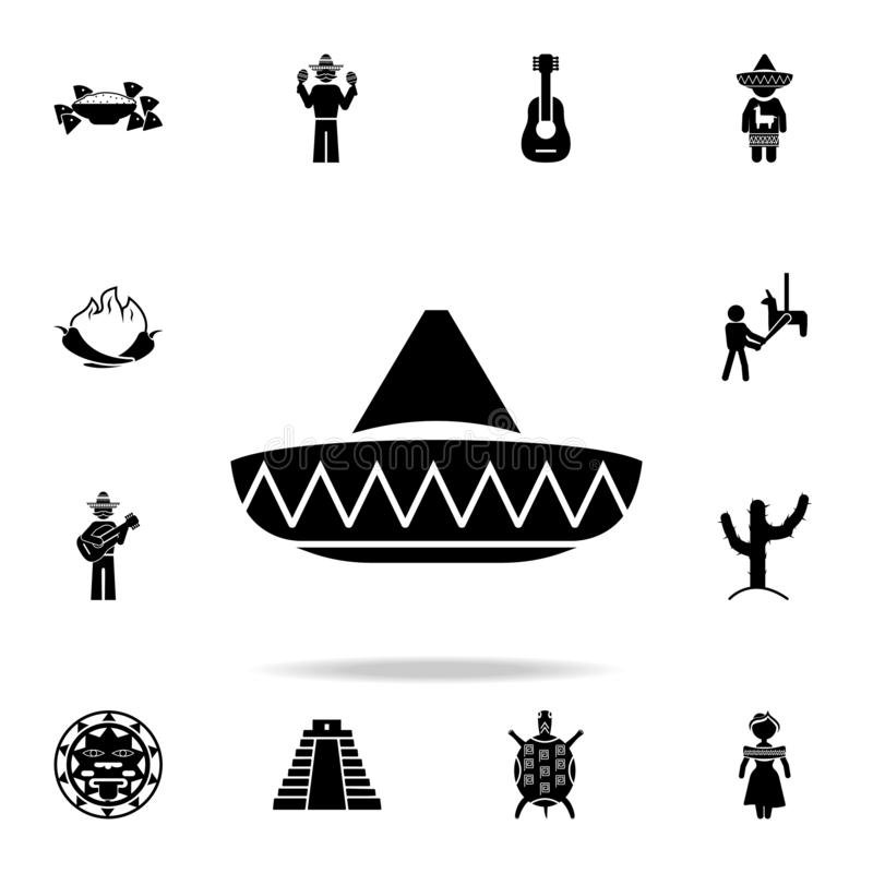 Mexican hat icon. Detailed set of elements Mexico culture icons. Premium graphic design. One of the collection icons for websites. Web design, mobile app on royalty free illustration
