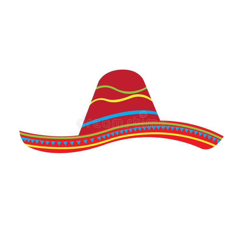 Mexican hat icon stock illustration