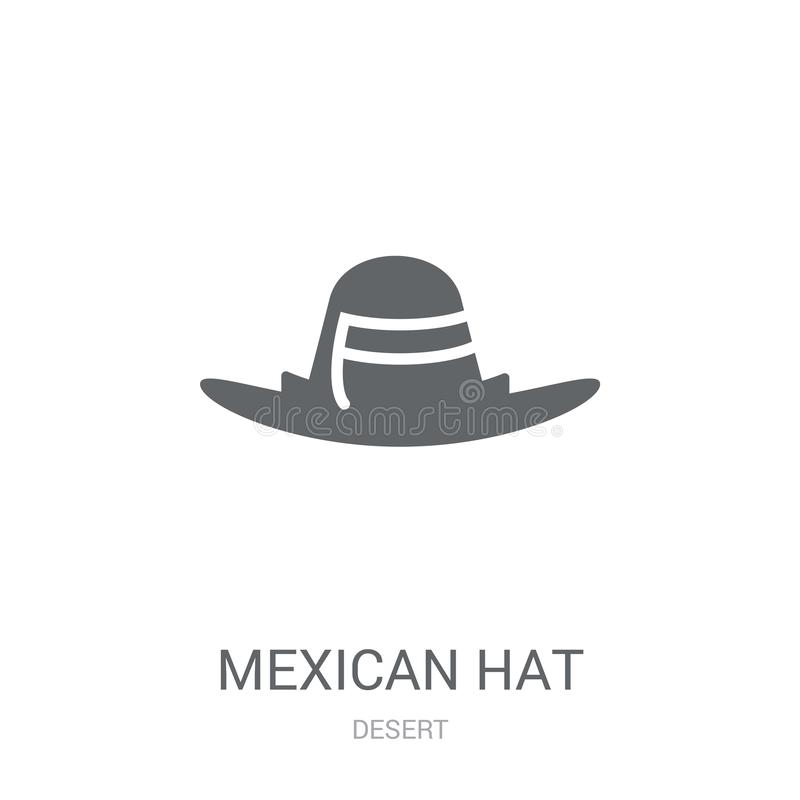 Mexican Hat icon. Trendy Mexican Hat logo concept on white background from Desert collection. Suitable for use on web apps, mobile apps and print media royalty free illustration