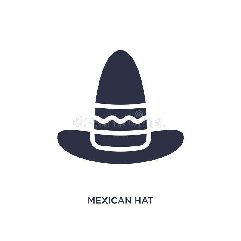 mexican hat icon on white background. Simple element illustration from desert concept vector illustration