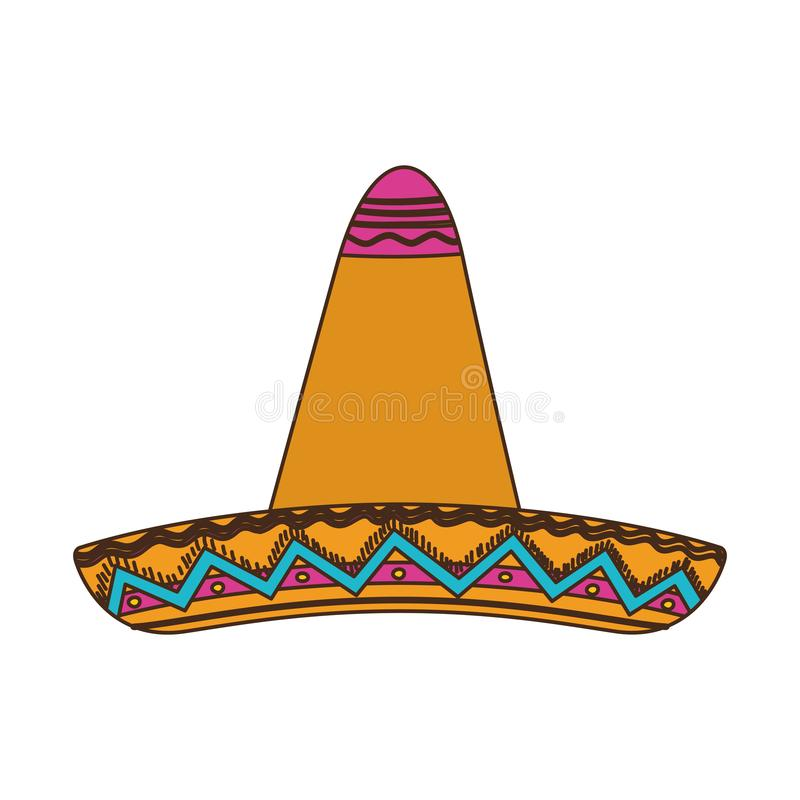 Mexican hat isolated icon royalty free illustration