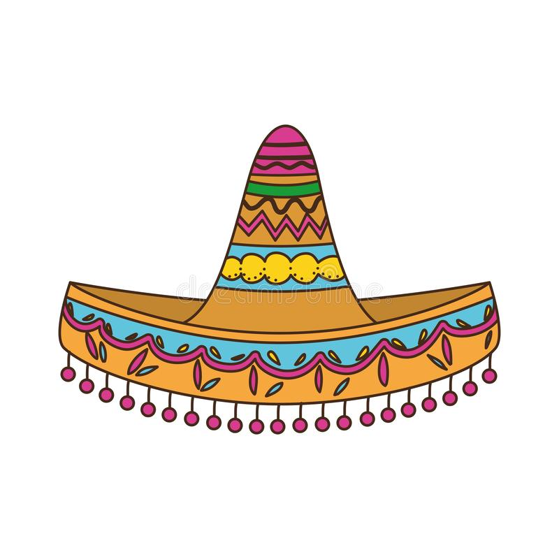 Mexican hat isolated icon. Vector illustration design stock illustration