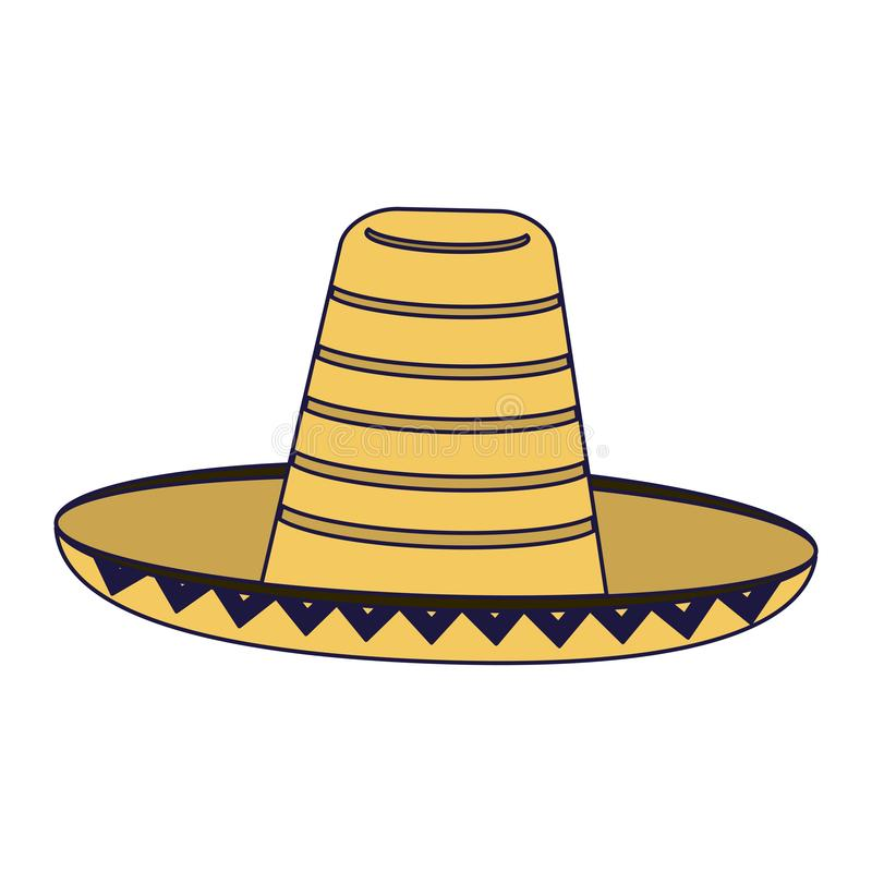 Mexican hat isolated. Vector illustration graphic design royalty free illustration